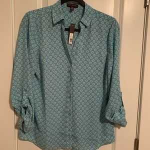 NWT The Limited Clover Luck Long Sleeved Blouse